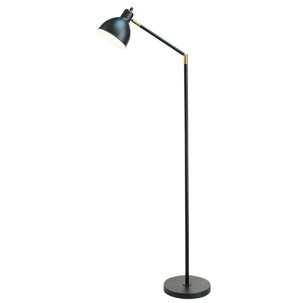Cresswell 54.5 in. Articulating Floor Lamp with Antique
