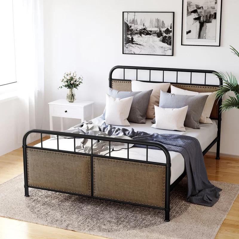 Tieast Upholstered Platform Bed Upholstered platform bed