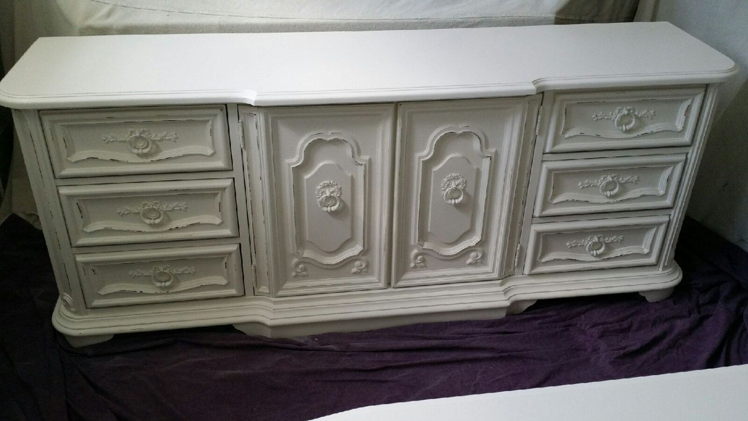 Shabby Chic distressed Dresser Cottage Chic by sweetbriarvintage, $475.00