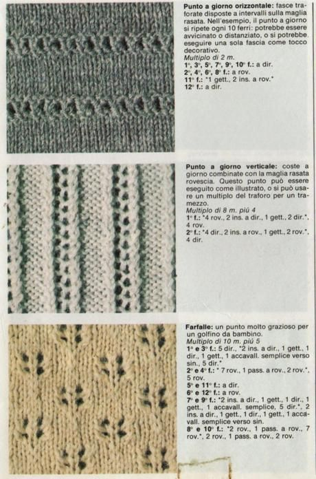 I punti del lavoro a maglia  I punti traforati cac0df9794f5