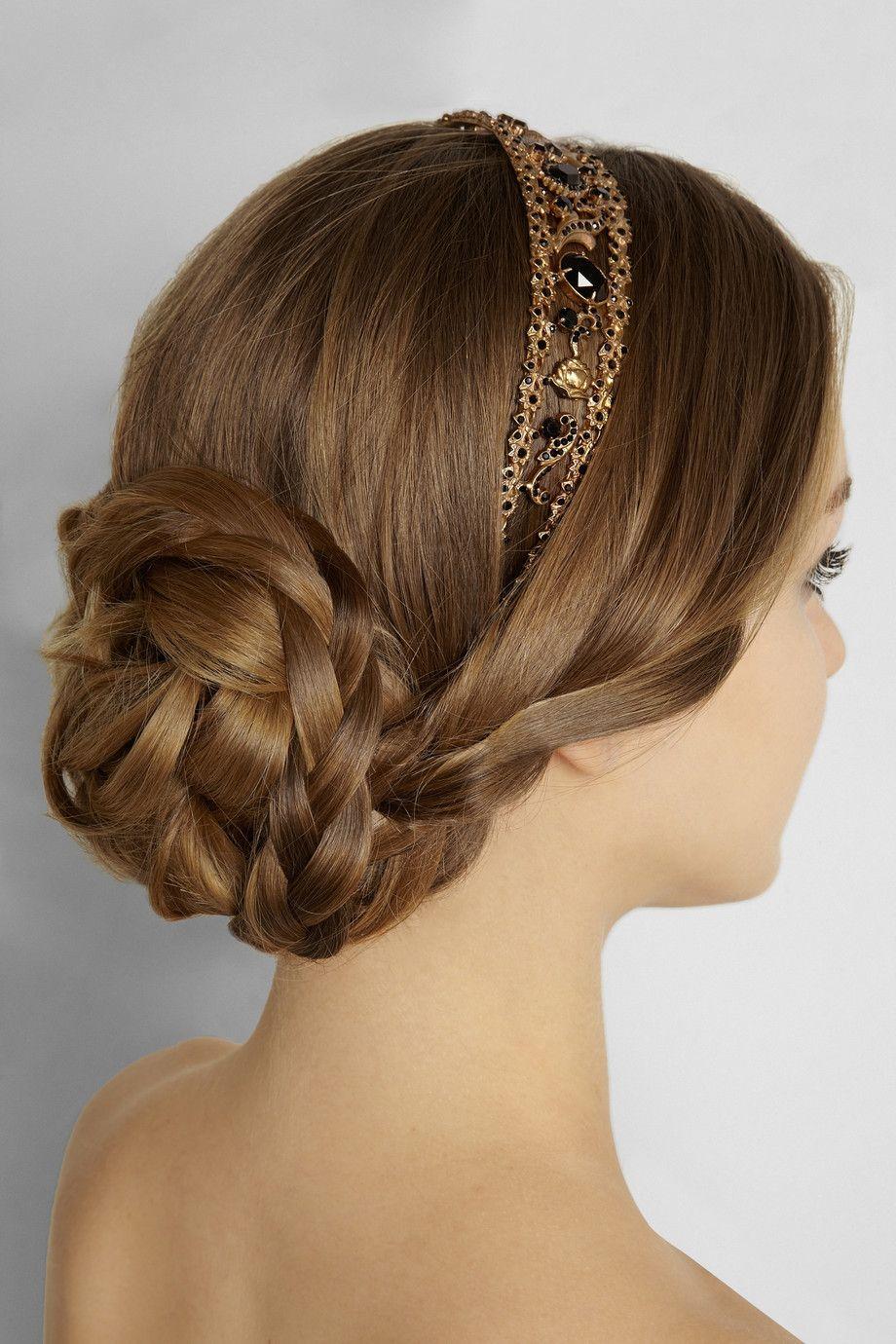 Dolce & Gabbana Goldtone Swarovski crystal headband