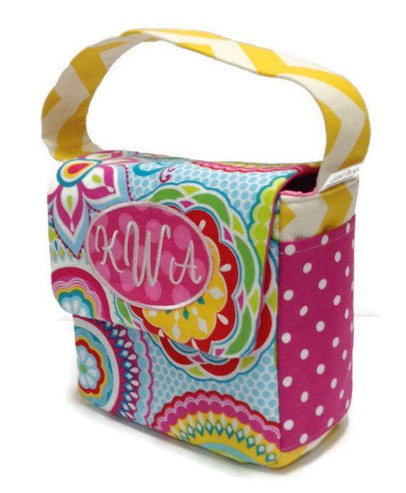 Preschool Lunch Bag Toddler School Eco Friendly Bright Fl Che