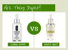 Are They Dupes Clinique Repairwear Laser Focus Vs Equate Beauty Precision Focus Wrinkle Serum Clinique Repairwear Makeup Dupes Clinique