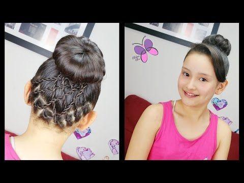 Recogido con Acentos Cruzados - Accented Bun | Peinados para Baile | Trenzas y Peinados - YouTube