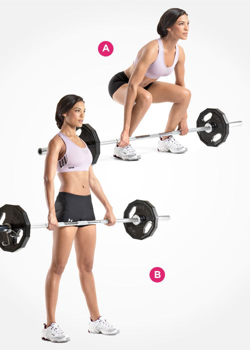 Barbell Deadlift  http://www.womenshealthmag.com/fitness/best-butt-exercises/slide/5