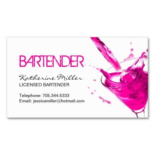 Bartender business card business cards pinterest bartenders bartender business card colourmoves