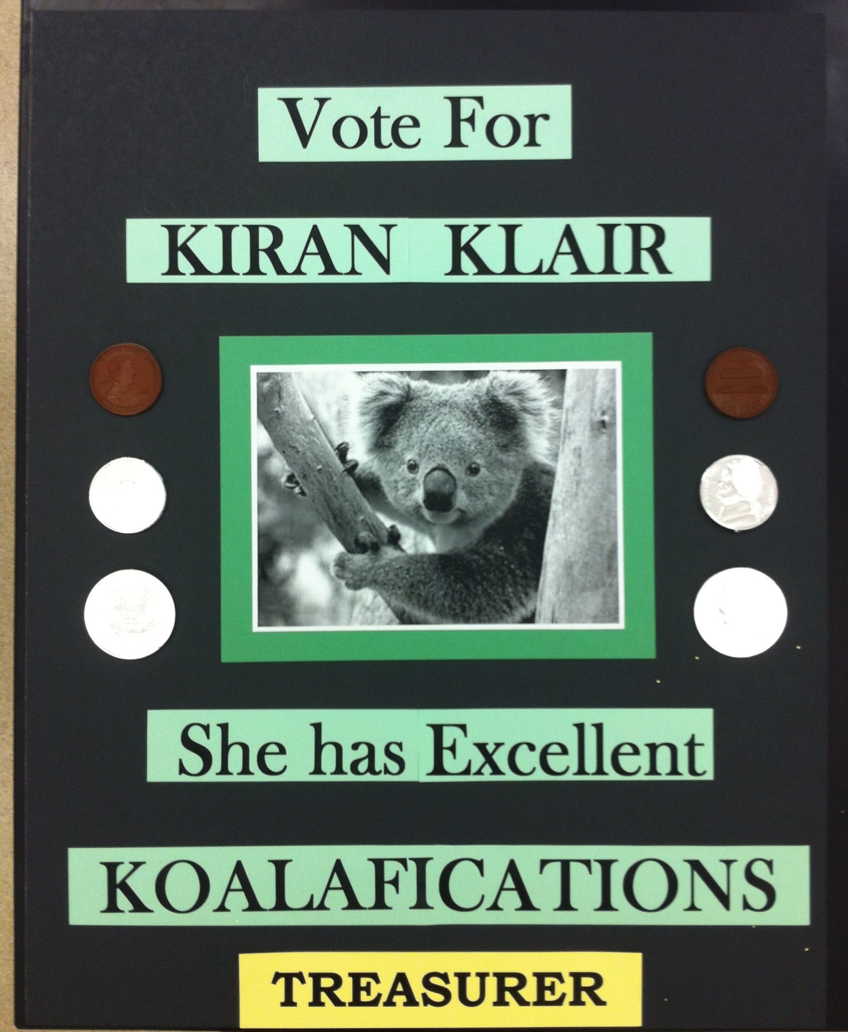 Student Council Campaign Poster...Koalifications