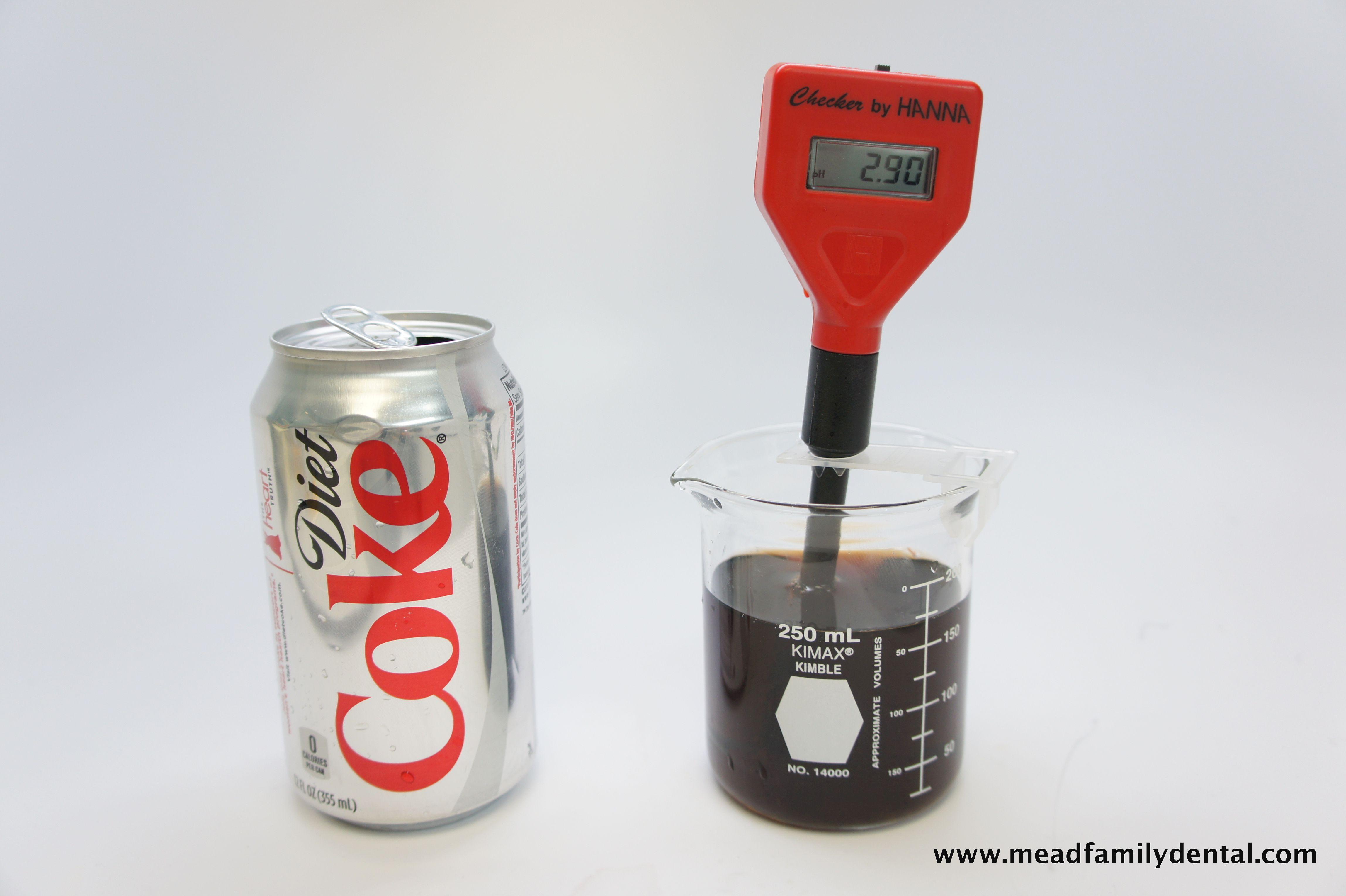 Diet Coke pH: 2.90