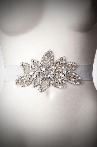 Acacia Bridal Belt I Crystal - Jenny Packham S2013 Accessories. #celebstylewed #weddings @celebstylewed