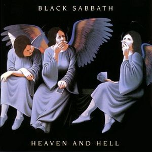 Heaven and Hell is the ninth studio album by British heavy metal band Black Sabbath, released on 25 April 1980. The album's cover art was taken from a painting by artist Lynn Curlee, Smoking Angels, inspired by a 1928 photograph of women dressed as angels smoking backstage during a break at a college pageant. The album's back cover illustration of the band was drawn by artist Harry Carmean.
