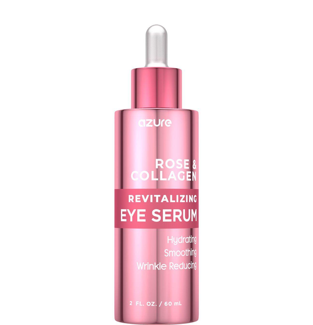 Rose And Collagen Revitalizing Eye Serum Eye Serum Castor Oil Wrinkles Smooth Skin Texture