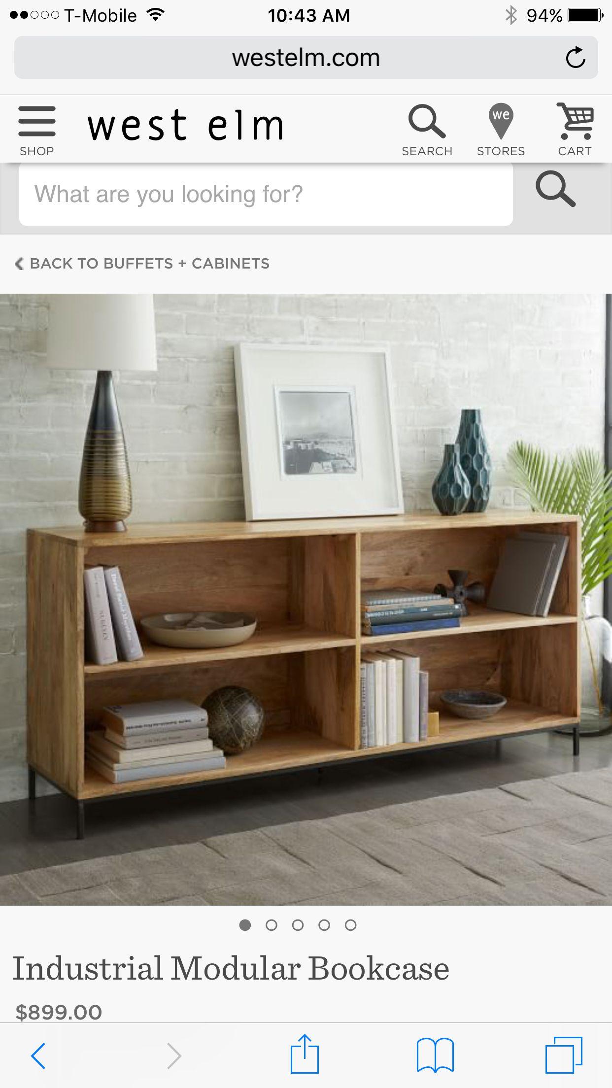 Beautiful Low Wooden Bookshelf West Elm Niedriges Bucherregal