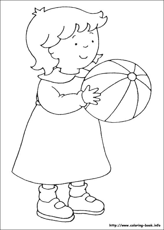Caillou coloring picture  Handmade  coloring  Pinterest  Caillou