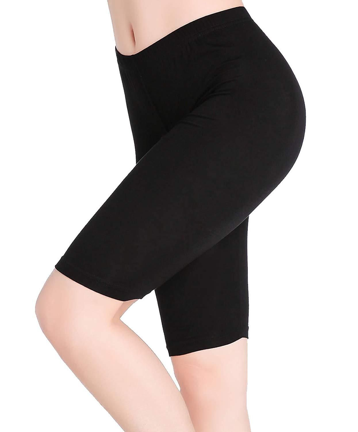 c0fde17abf3fce CnlanRow Womens Under Skirt Pants Soft Ultra Stretch Knee Length Leggings  Fitness Sport Shorts Clothing -- Amazon Affiliate link.