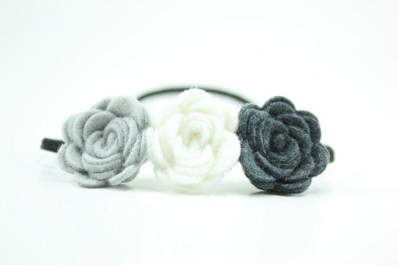 Black and Gray Headband  Headbands for Women  by BlueSkyDesignsCo, $6.50