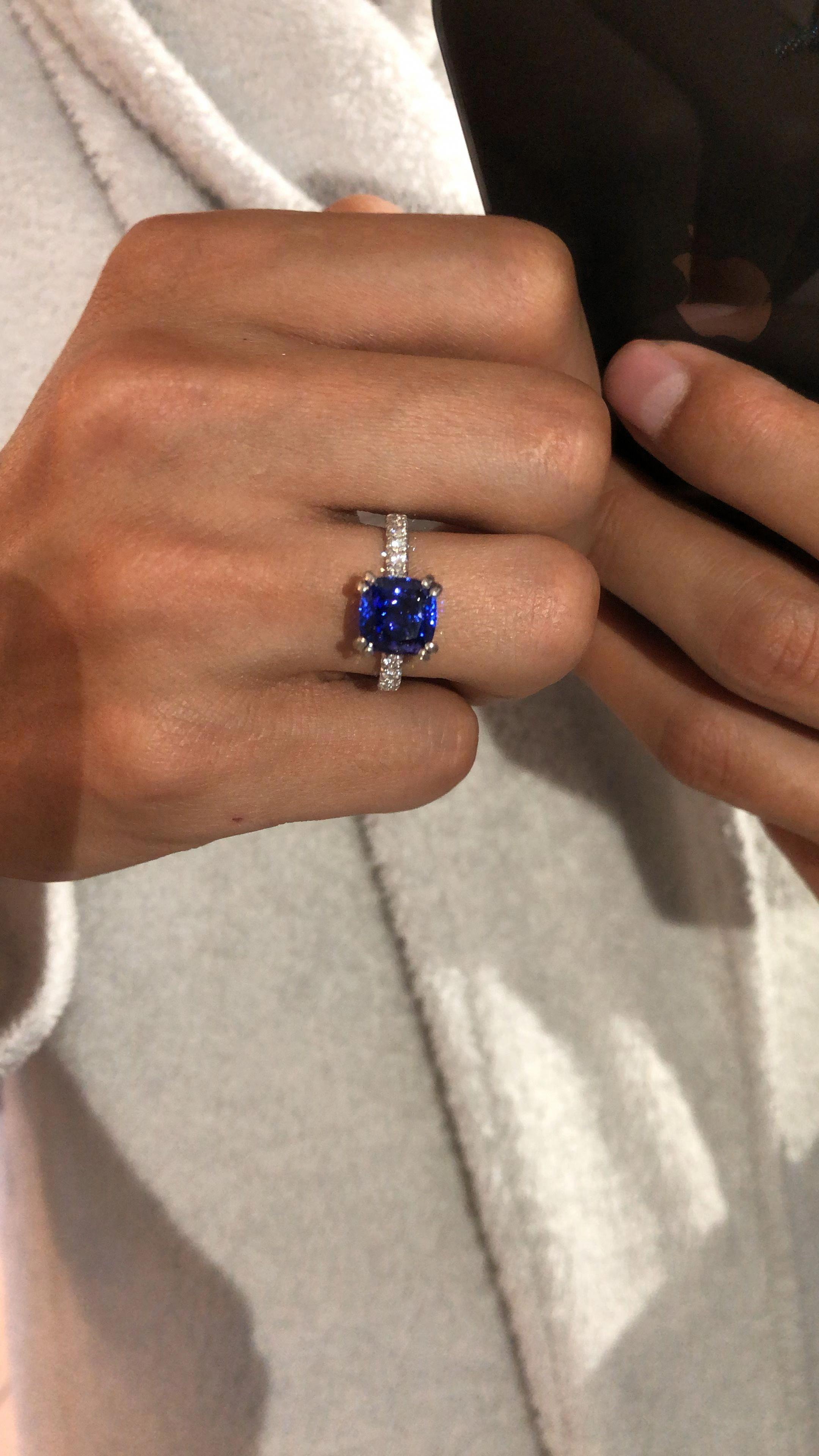 Black Diamond Engagement Ring Rose Engagement Ring White Gold Ring