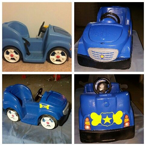Upcycled This Step 2 Car Into A Paw Patrol Custom Car. I Chose Chaseu0027s  Police