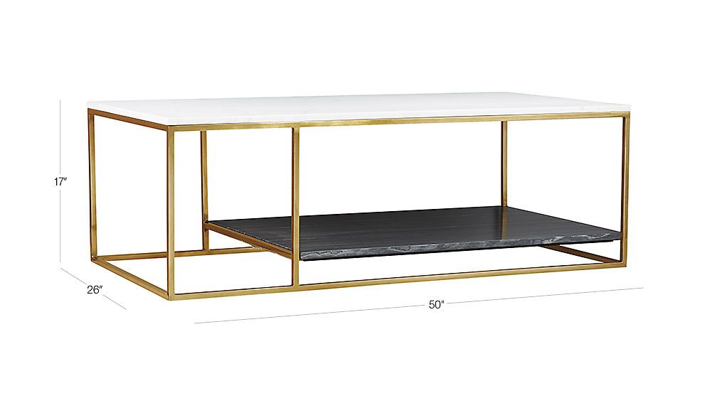 2 Tone Grey And White Marble Coffee Table Reviews Marble