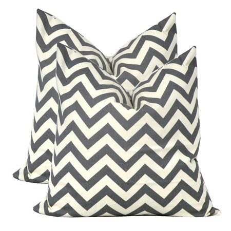 I pinned this Cameron Pillow in Charcoal (Set of 2) from the Elisabeth Michael event at Joss and Main!