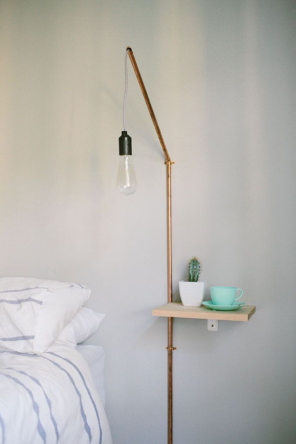 Minimalist Diy Projects Packed With Beauty Diy Nightstand Shelf Lamp Bedside Table Lamps