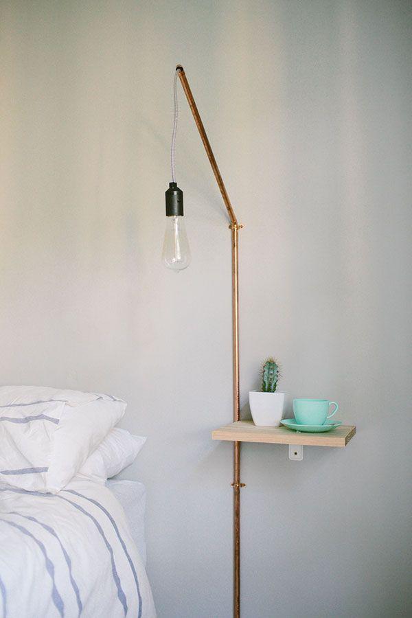 Diy Bedside Table Lamp Bedside Table Diy Minimalist Diy