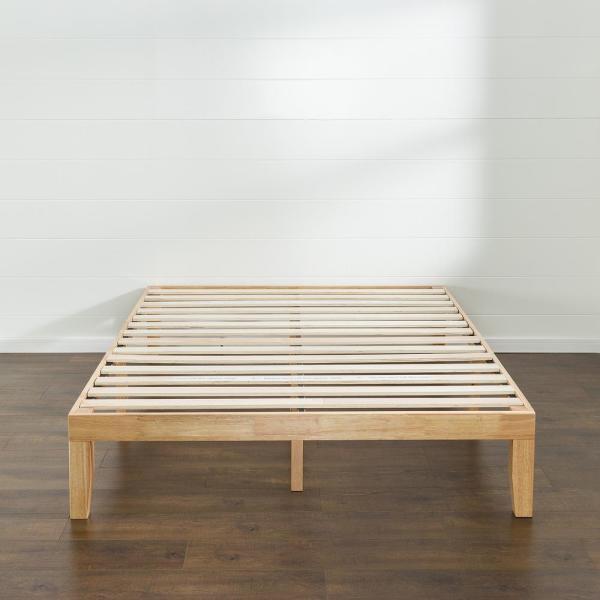 Zinus Moiz 14 In Wood Platform Bed Queen Hd Rwpb 14q The Home