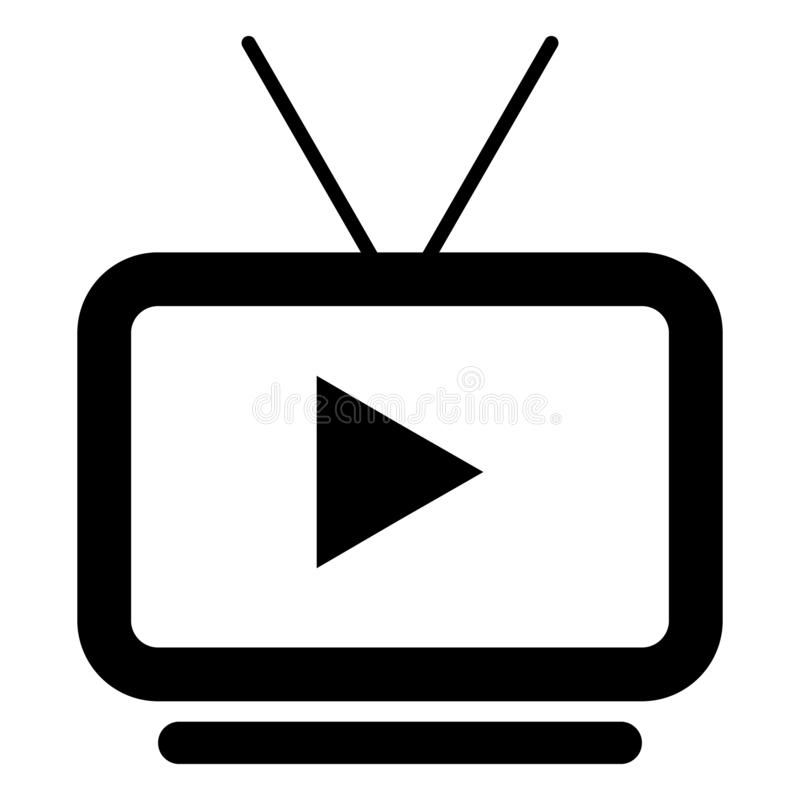 Illustration About Vector Television With Play Icon Tv Icon With Antena Logo Icon Illustration Of Play Buttons Communication 1389 Icon Tv Icon Logo Icons