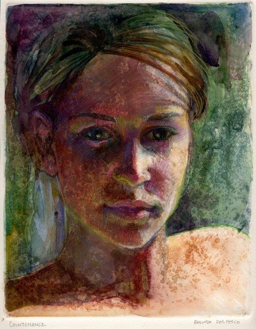 Light Field Monotype: Countenance, DRAWING  ART GALLERY Contemporary ART, #illustration, #art, #gall...