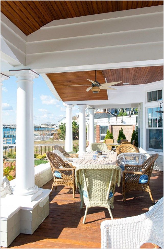 42 Stunning Nautical Porch Decoration Ideas 53 | Outdoor ... on Nautical Patio Ideas id=71142