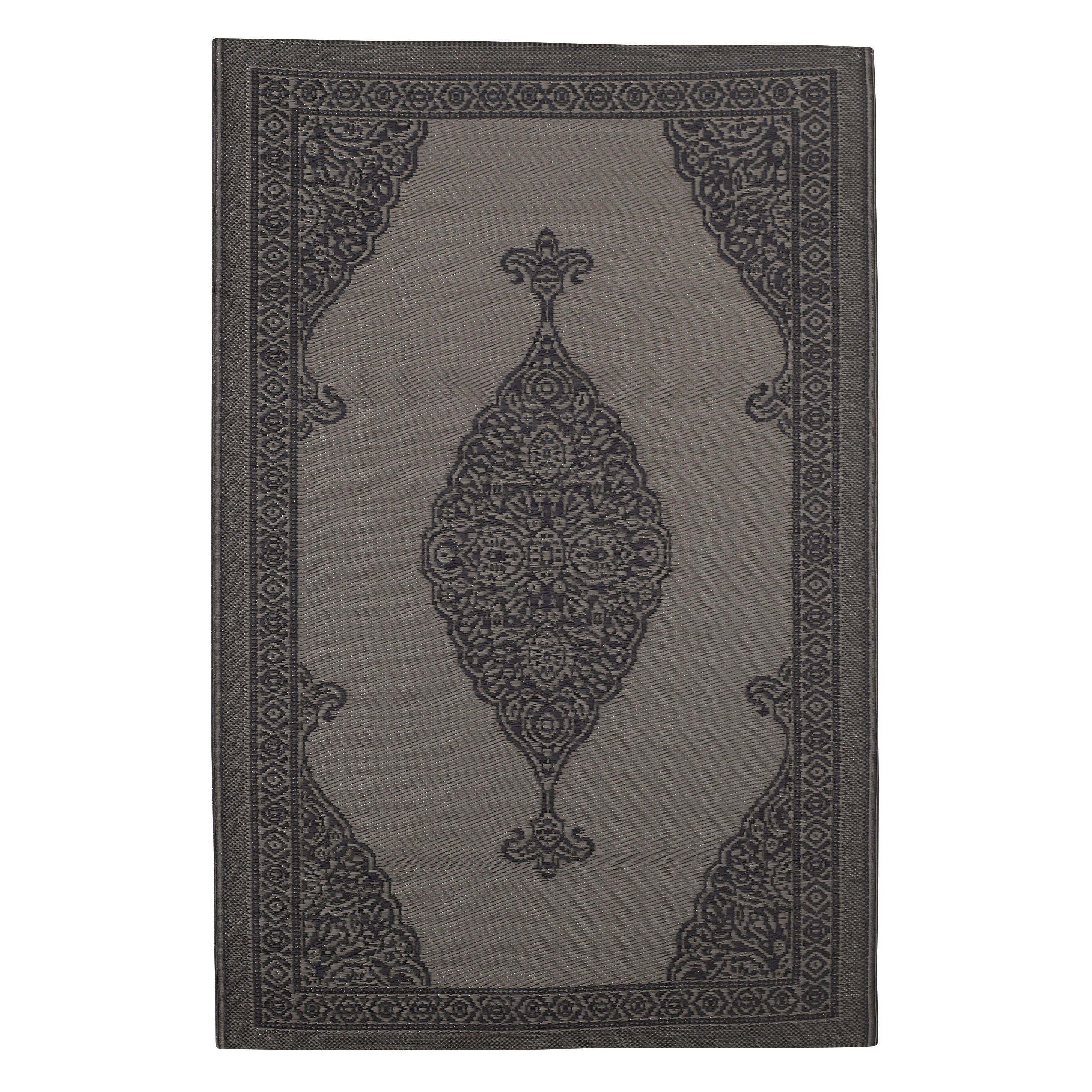 Outdoor-Teppich IBIZA aus Kunststoff, 120 x 180cm, grau