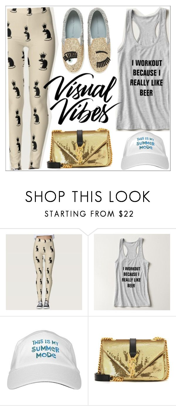 """""""Visual vibes"""" by teoecar ❤ liked on Polyvore featuring Yves Saint Laurent and Chiara Ferragni"""