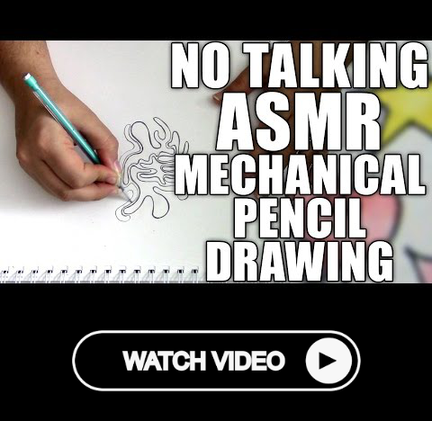 No Talking Asmr Drawing With A Mechanical Pencil Sketching Erasing Scratching Sounds Mechanical Pencils Drawings Drawing For Beginners