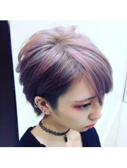 2wayアシメショート 髪 色 髪型 ヘアスタイリング