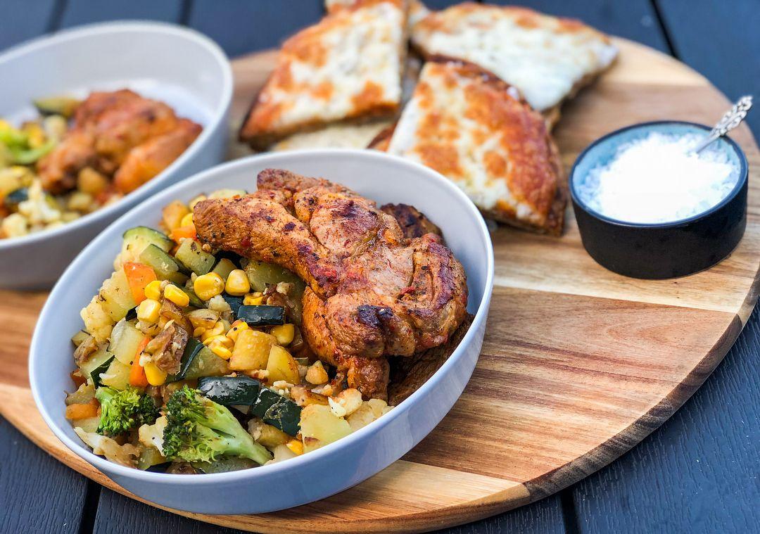 grøntsager med protein