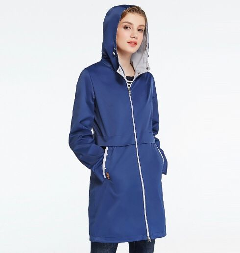 Photo of ICEbear 2019 Spring Woman Clothing Solid Color Long Sleeved Casual New Women Coat Stand Collar Pockets Trench Coat 17G122D | www.minogdin.com