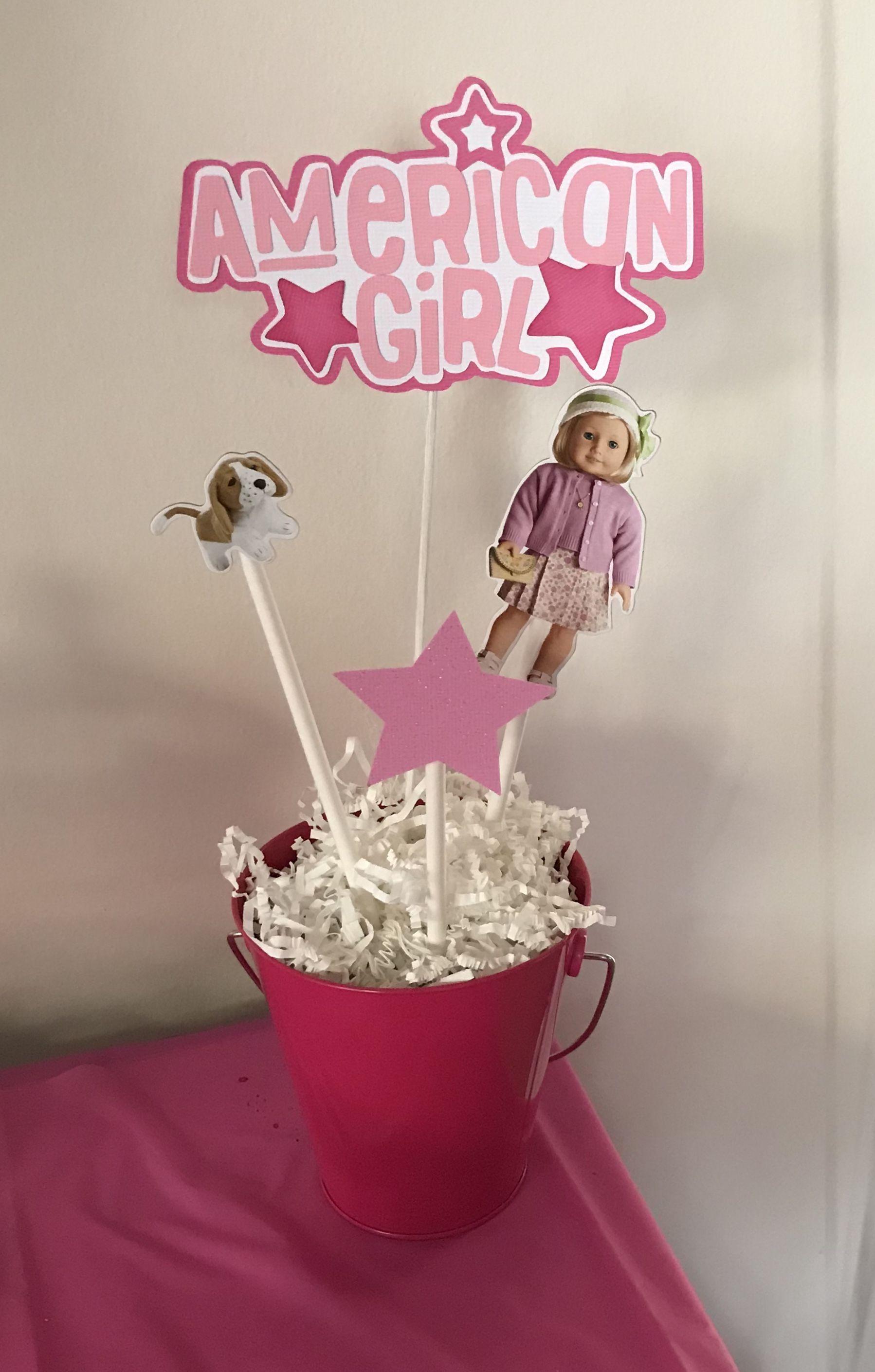 American girl birthday partydecorationsamerican girl centerpiece