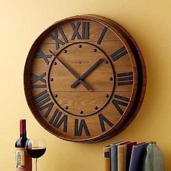Ross Simons Howard Miller Wine Barrel Wall Clock 405297 Log