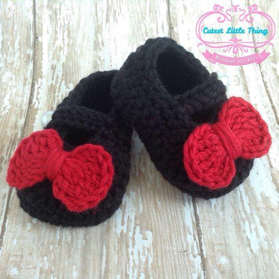 Negro de zapatos de bebé zapatos de bebé del por CutestlittleThing