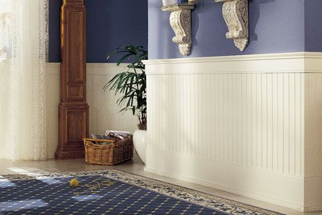 Dining Room Breadboard Wainscoting Off White