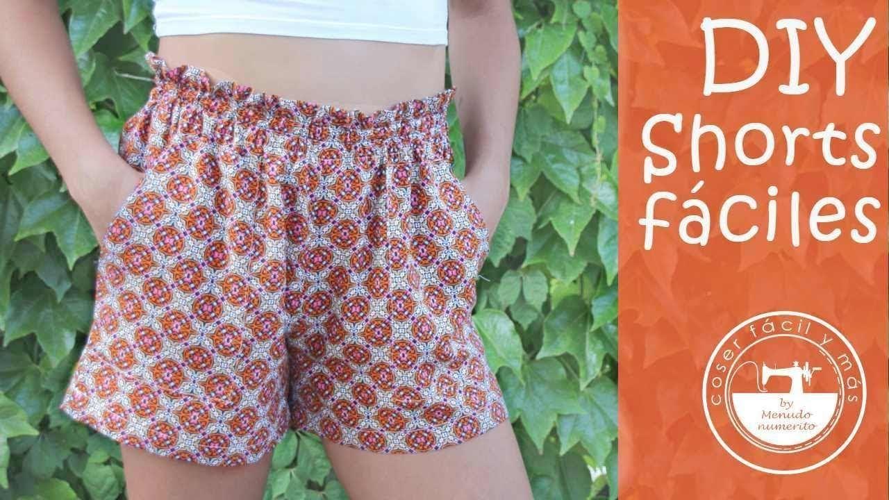 Shorts De Verano Faciles Con Patrones Pantalones Cortos De Mujer Short De Verano Tutorial De Pantalones Cortos