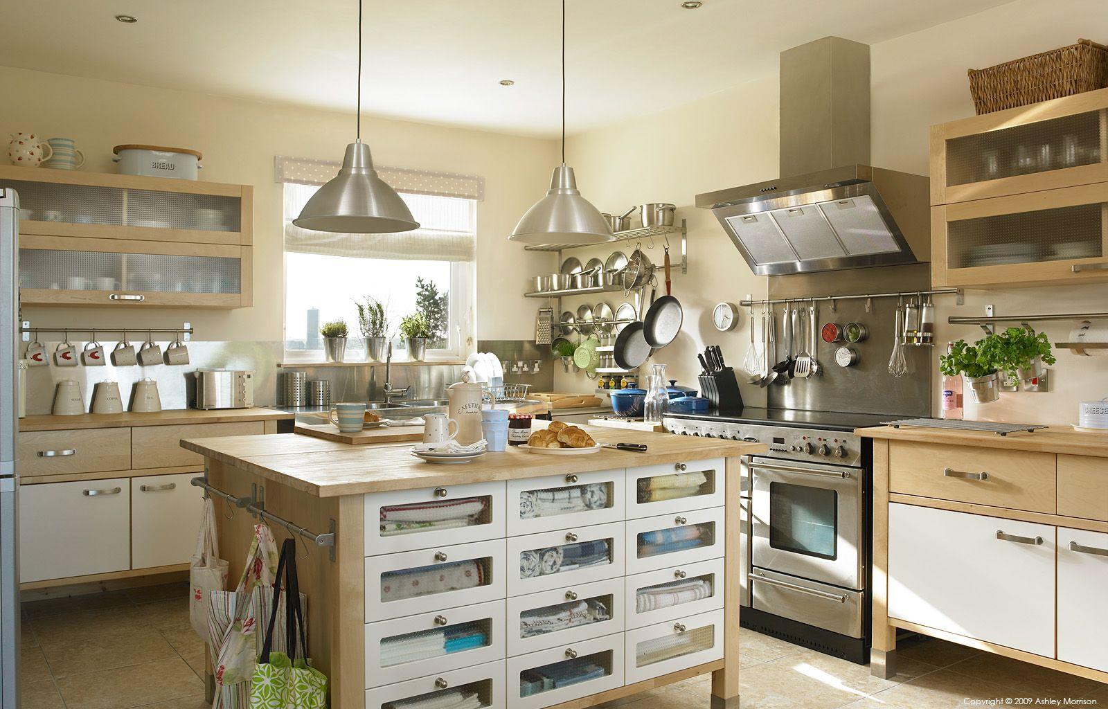 An Ikea Varde freestanding kitchen in a farmhouse outside