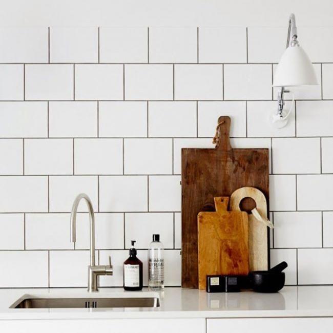 baldosa blanca para bano y cocina Kitchen Pinterest Baldosa