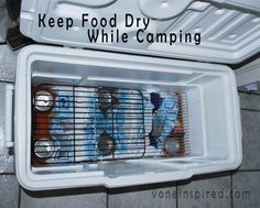 HOW TO KEEP YOUR FOOD DRY IN A COOLER WHILE CAMPING… (Camping Hacks Cooler)