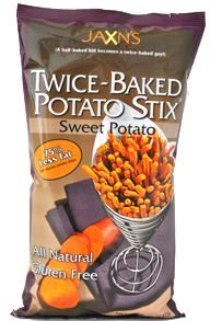 Jaxn's Twice-Baked Sweet Potato Stix. I want to try to find these at Wegmans or Whole Foods.