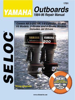 Yamaha Outboard 1984 1996 2 4 Stroke Service Repair Manuals Outboard Yamaha Yamaha Boats