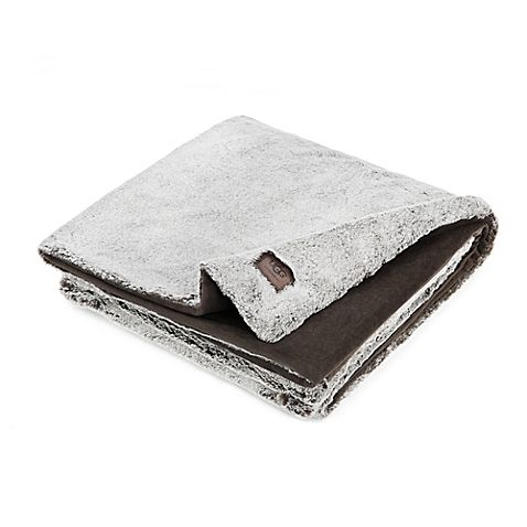 Ugg Throw Blanket Prepossessing Ugg® Dawson Tip Dye Faux Fur Throw Blanket In Chocolate Create A Inspiration