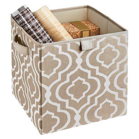 Decorative Fabric Boxes Closetmaid Decorative Fabric Cube Storage Bin  Taupe  Fabric