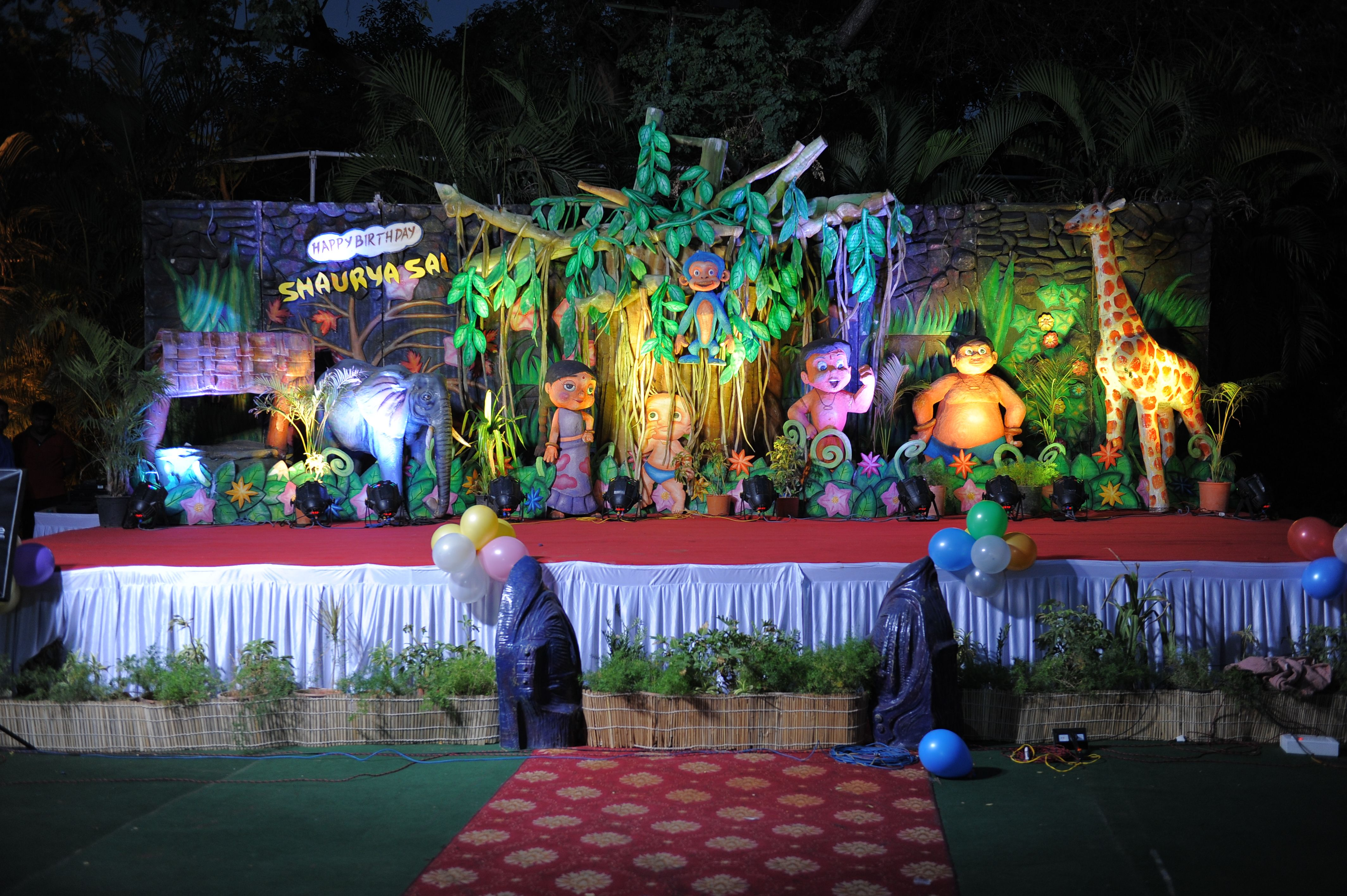Jungle Theme Birthday Party Decoration Ideas Part - 46: Jungle Theme Parties · Birthday Party Decorators In Hyderabad
