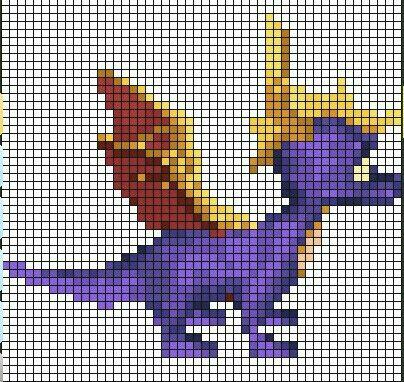 Spyro Sprite Grid | Sprite Grids | Pinterest | Sprites, Graph