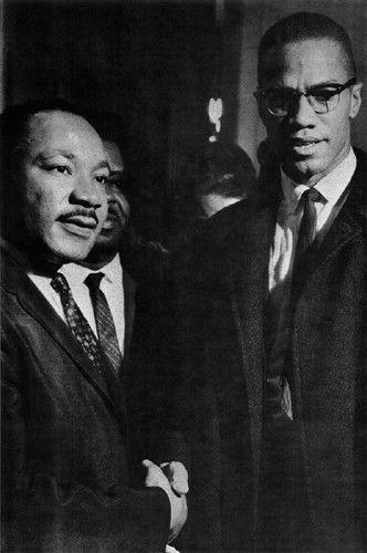 The Meeting: Washington DC March 26 1964 (MLK & Malcolm X) Art Print